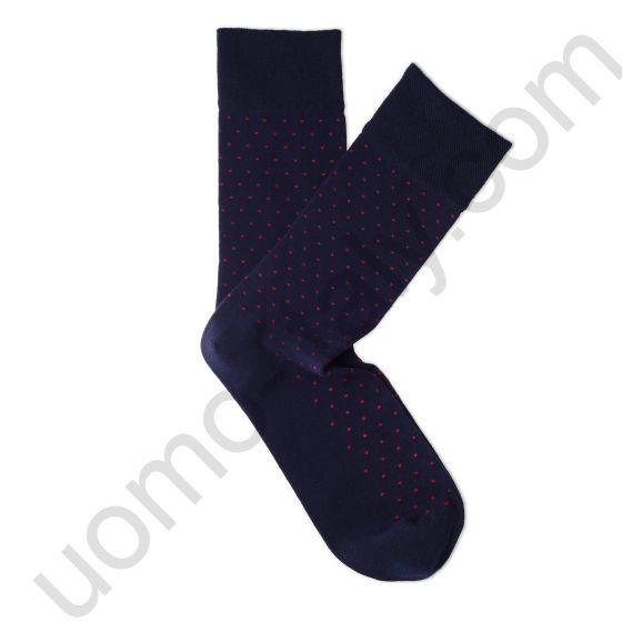 Носки Tezido синие с красной точкой
