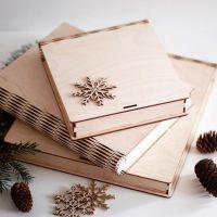 коробка в виде книжки из дерева