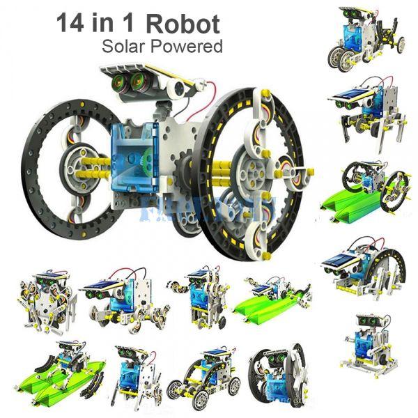 Робот-конструктор Solar Robot Kit 14 в 1 с солнечной батареей
