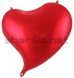 Шар (18''/46 см) Сердце, Изгиб, Красный