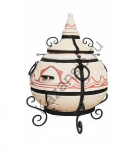 Тандыр Сармат Большой укомплектован:  20 кованных  шампуров, приспособление для подвешивания шампуров, кочерга, совок, колосник, стойка для аксессуаров.