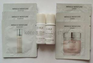 O HUI MIRACLE MOISTURE sample set  - набор из 8 пробников  глубоко увлажняющих средств  линии MIRACLE MOISTURE от O HUI