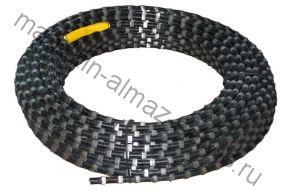 Алмазный канат для резки железобетона 11.5 мм. (чёрный)