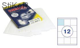 73624 Этикетки самоклеящиеся MEGA LABEL 70х67.7 мм / 12 шт. на листе А 4 (100 листов в пачке)