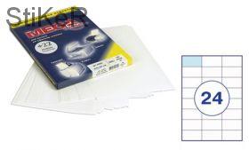 73574 Этикетки самоклеящиеся MEGA LABEL 70х37 мм / 24 шт. на листе А 4 (100 листов в пачке)