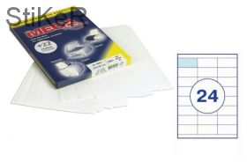 73637 Этикетки самоклеящиеся MEGA LABEL 70х33,8 мм / 24 шт. на листе А 4 (100 листов в пачке)