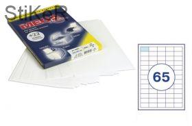 73580 Этикетки самоклеящиеся MEGA LABEL 38х21,2 мм / 65 шт. на листе А 4 (100 листов в пачке)
