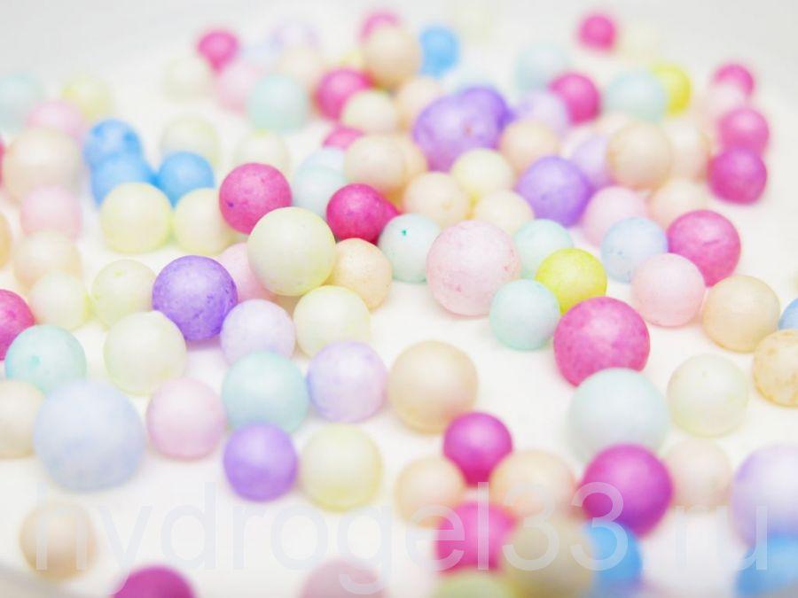 Слайм снежный с цветными шариками 2-4мм 150 мл