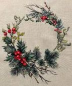 "Cross stitch pattern ""Christmas wreath""."