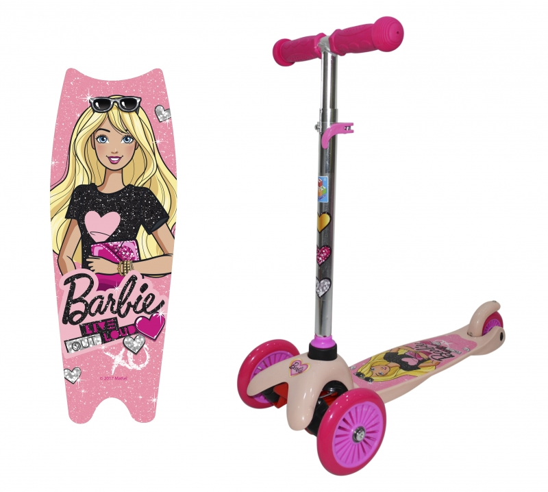 "Самокат трёхколёсный 1TOY ""Barbie"" (2018)"