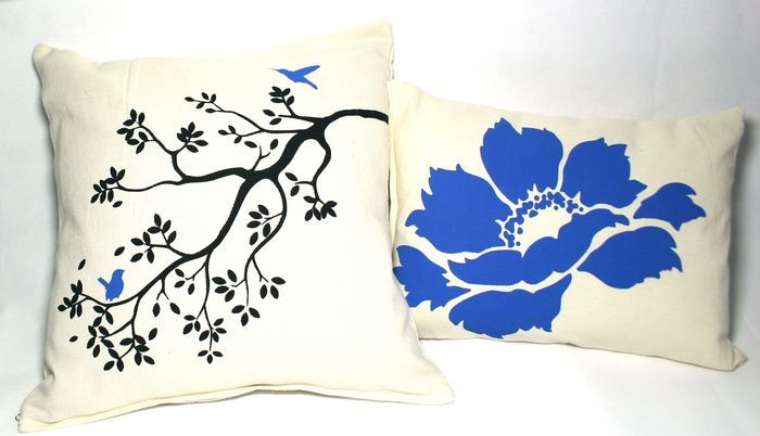 "Комплект декоративных подушек ""Синяя птица"""