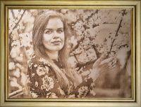 портрет на дереве формата А3