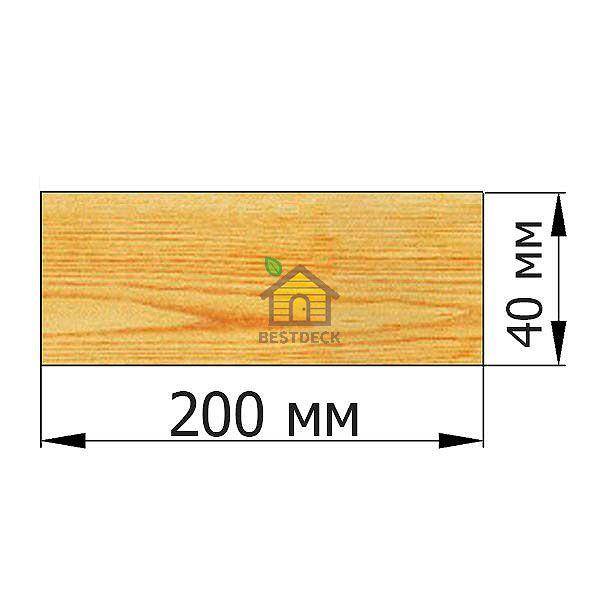 Доска 40*200 строганая сухая