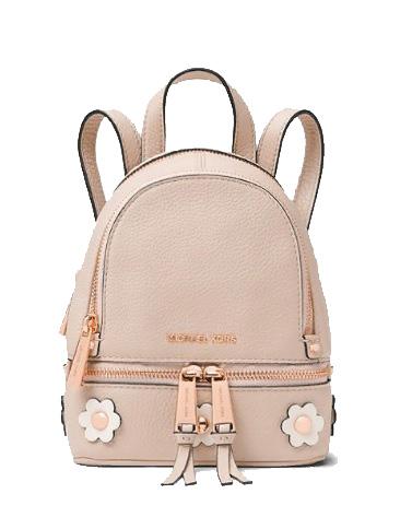 MICHAEL MICHAEL KORS Rhea Mini Floral Appliqué Leather Backpack