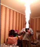 Супер бумажник с факелом