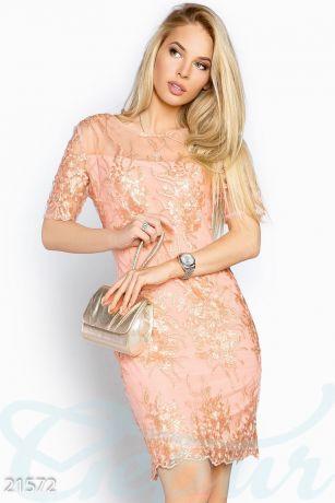 Платье-футляр ажур (21572)
