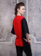 Красно-черная футболка Роза