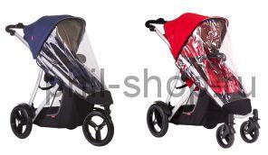 Дождевик для коляски Phil and Teds Vibe для 1 ребенка