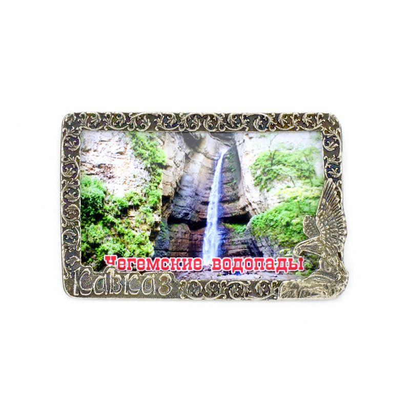 """Рамка-магнит """"Кавказ. Чегемские водопады"""""""