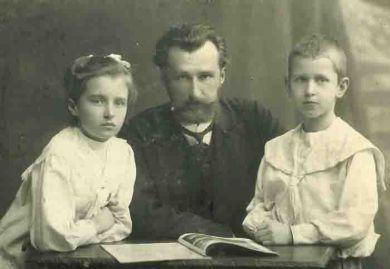 Борис Клавдиевич, Лена Кабалевская, Митя Кабалевский (1912 г.)