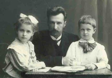 Борис Клавдиевич Кабалевский, Лена Кабалевская, Митя Кабалевский. Санкт-Петербург (1910 г.)