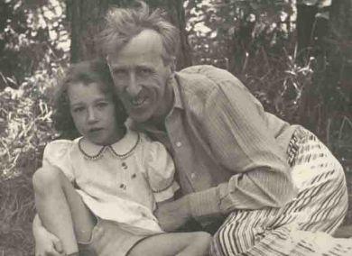 С дочерью Машей (1955 г.)
