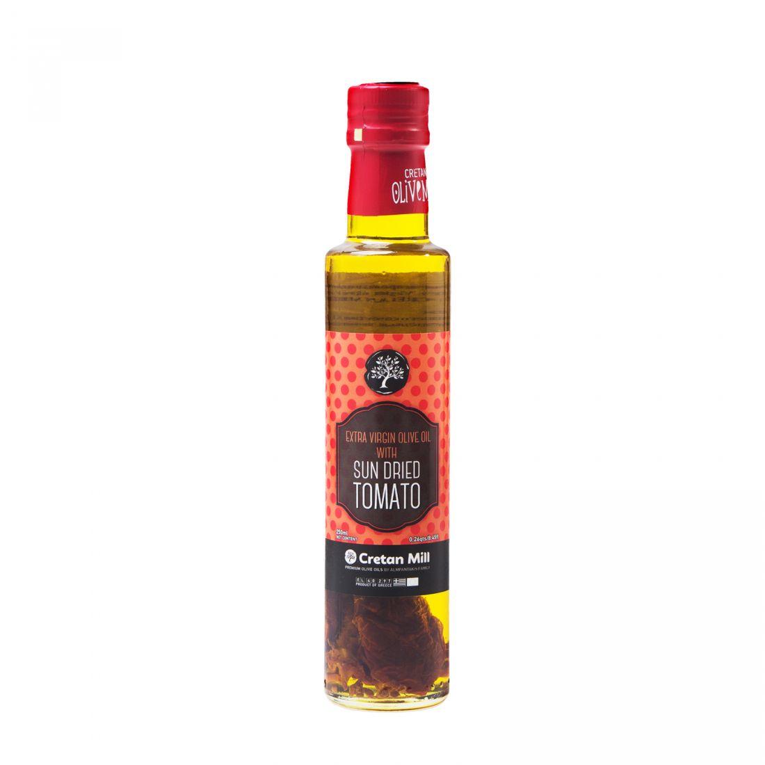Оливковое масло с вялеными томатами CRETAN MILL  - 250 мл экстра вирджин