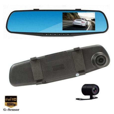 Зеркало-видеорегистратор с камерой заднего вида Vehicle Blackbox DVR.