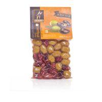 Оливки и маслины греческие ассорти традиционное в вакууме Astir - 250 гр  с косточкой
