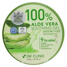 3W Clinic Aloe Vera Soothing Gel 98% 300ml  - Многофункциональный успокаивающий гель с алоэ вера 98%