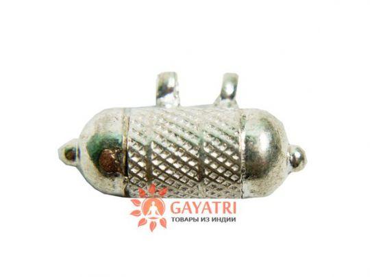 Серебряная Джаганнатх-кавача, 22 мм(заполненная частичкой одежды Господа Джаганнатхи)