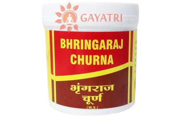 """Аюрведическое средство от выпадения волос и седины """" Брингарадж чурна"""" 100 гр,производитель Вьяс; Bhringaraj Churna, 100 g, Vyas"""