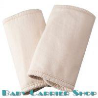 Накладки на ремни для слинг-рюкзака ERGO BABY «TEETHING PADS ORGANIC Natural» [Эрго Беби SPON натуральный]