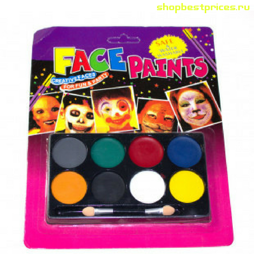 Аквагрим FACE PAINTS, 8 цветов