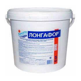 ЛОНГАФОР медленный стабилизированный хлор в табл. по 200г, 5кг