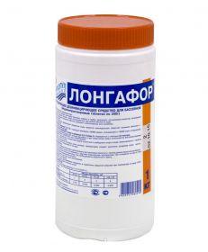 ЛОНГАФОР медленный стабилизированный хлор в табл. по 200г, 1кг