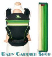 Вставка на молнии в удлинение спинки для слинг-рюкзака MANDUCA Baby And Child Carrier «ZIPIN Lime» [Мандука Лайм]