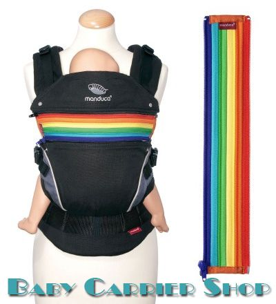 Вставка на молнии в удлинение спинки для слинг-рюкзака MANDUCA Baby And Child Carrier «ZIPIN Rainbow» [Мандука Радуга]