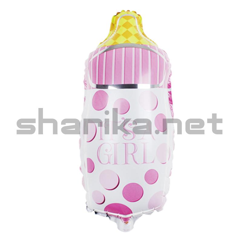 Шар (29''/74 см) Фигура, Бутылочка для малышки, Розовый