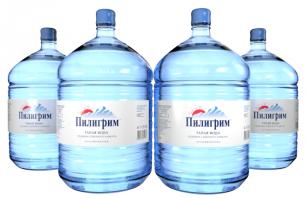 Вода Пилигрим 4 бутыли по 19 литров, пэт.