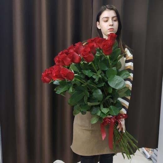 23 розы 80 см Премимум класса