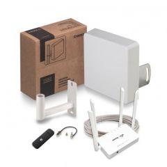 Комплект для усиления 3G/4G сигнала KSS15-3G/4G MIMO + Модем Huawei E3372 + Роутер ZBT