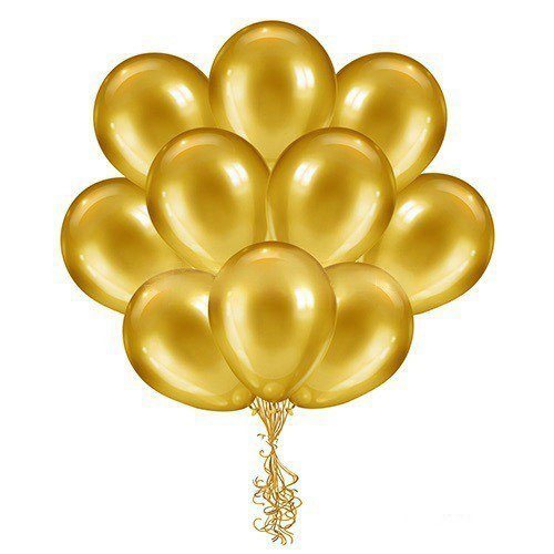 Набор шаров металлик (цвет -gold)