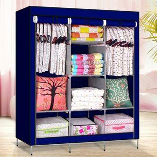 Тканевый шкаф Storage Wardrobe, цвет синий
