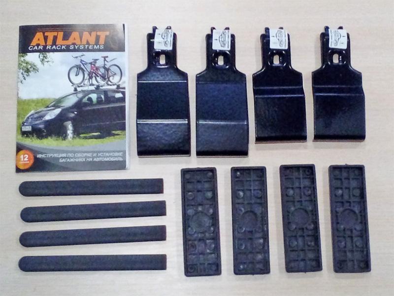 Адаптеры для багажника Kia Soul (2009-14, 2014-..., без рейлингов), Атлант, артикул 8649