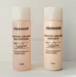 Mamonde Moisture Ceramide Skin softner & emulsion -  набор миниатюр от Мамонде тонер и эмульсия  увлажнение с церамидами (гибискус)  по 25 мл