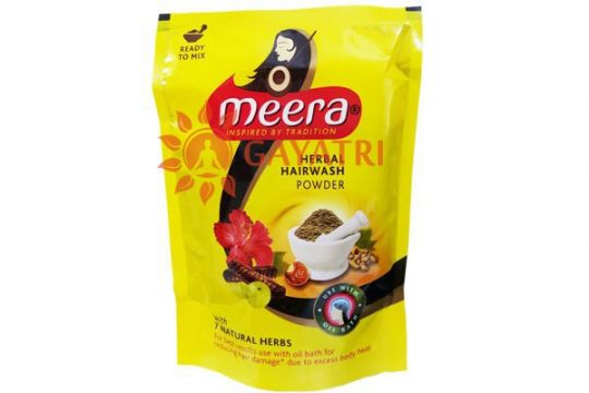 "Сухой травяной шампунь ""Мира"", 80 г, производитель Кевин Кейр; Meera Herbal Hairwash Powder, 80 g, CavinKare"