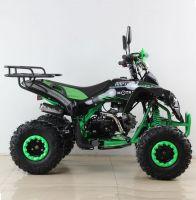 Квадроцикл подростковый бензиновый MOTAX ATV Raptor Lux черно-зеленый вид 5