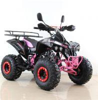 Квадроцикл подростковый бензиновый MOTAX ATV Raptor Lux черно-розовый вид 6