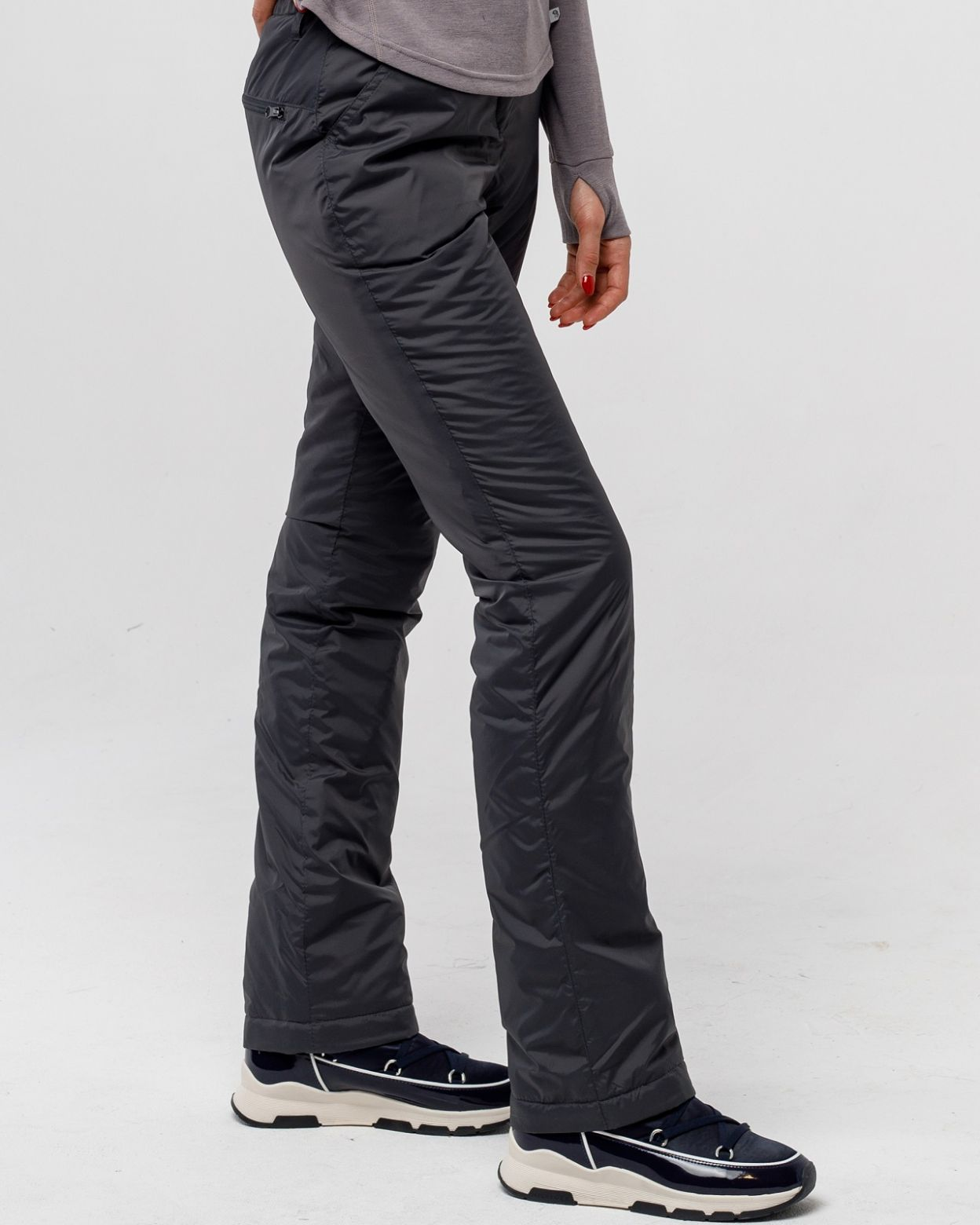 Плащевые женские серые брюки HEIDEN  вид3